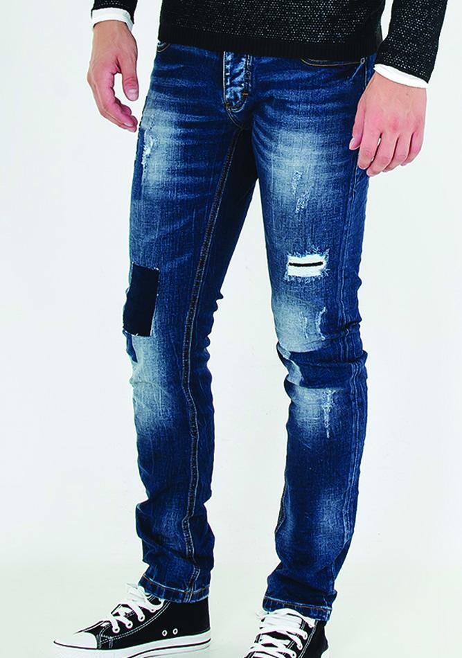 Ανδρικό Jean Enos Patch αρχική ανδρικά ρούχα επιλογή ανά προϊόν παντελόνια παντελόνια jeans