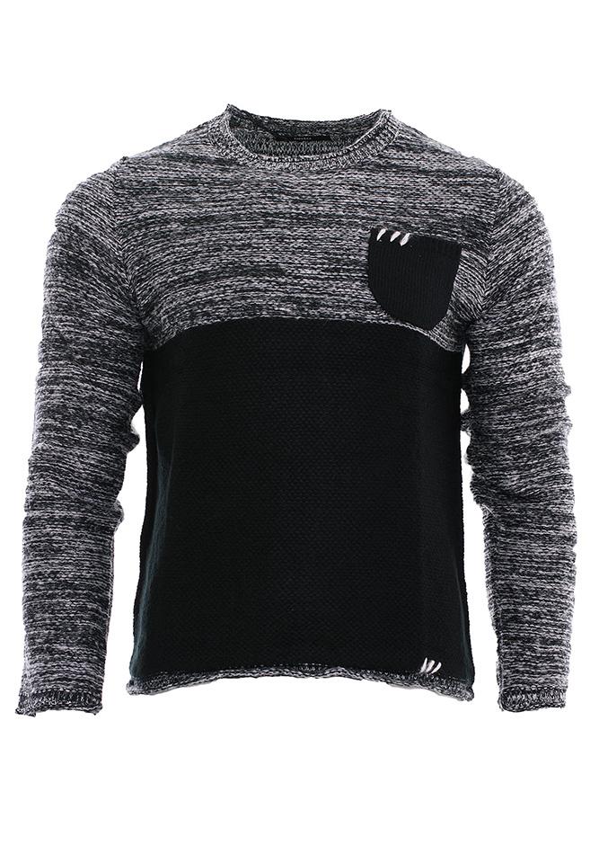 Πλεκτή Μπλούζα Stitches Black αρχική ανδρικά ρούχα πλεκτά