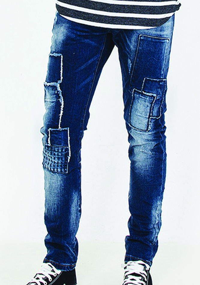 Aνδρικό παντελόνι jean Patch αρχική ανδρικά ρούχα παντελόνια jeans
