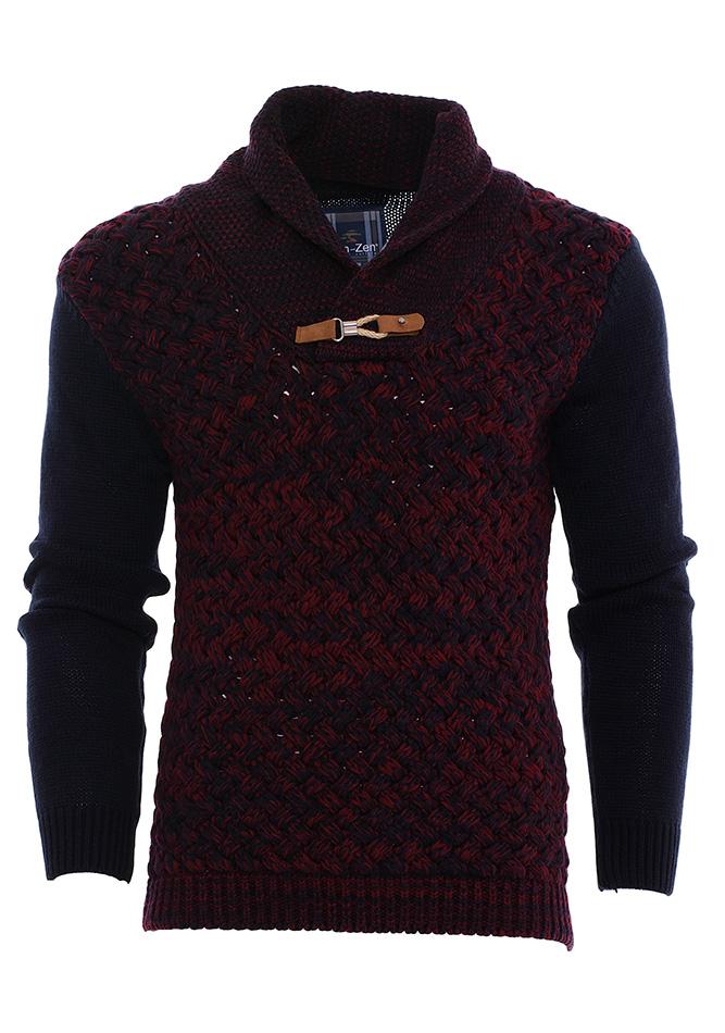 Πλεκτή Μπλούζα Zen Button Bordeaux αρχική ανδρικά ρούχα πλεκτά