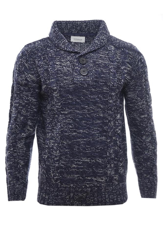 Ανδρική Πλεκτή Μπλούζα Traxx D.Blue αρχική ανδρικά ρούχα