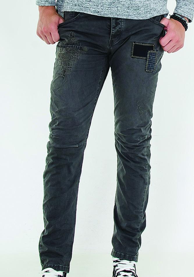 Aνδρικό Chino Grey Patch αρχική ανδρικά ρούχα παντελόνια παντελόνια chinos