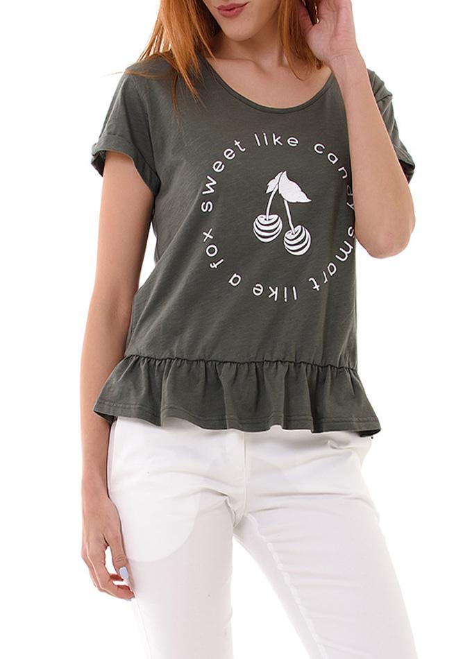Μπλούζα Candy Olive Green αρχική γυναικεία ρούχα μπλούζες   tops