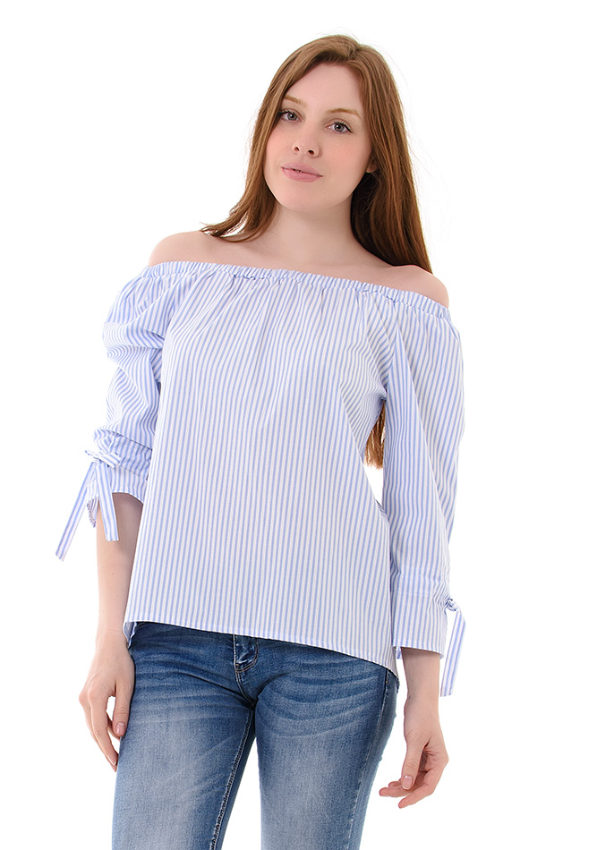Μπλούζα Sleeve Bow αρχική γυναικεία ρούχα μπλούζες   tops