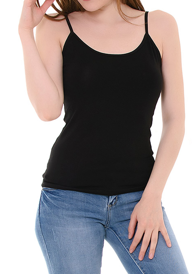 Top Bretelles Black αρχική γυναικεία ρούχα μπλούζες   tops