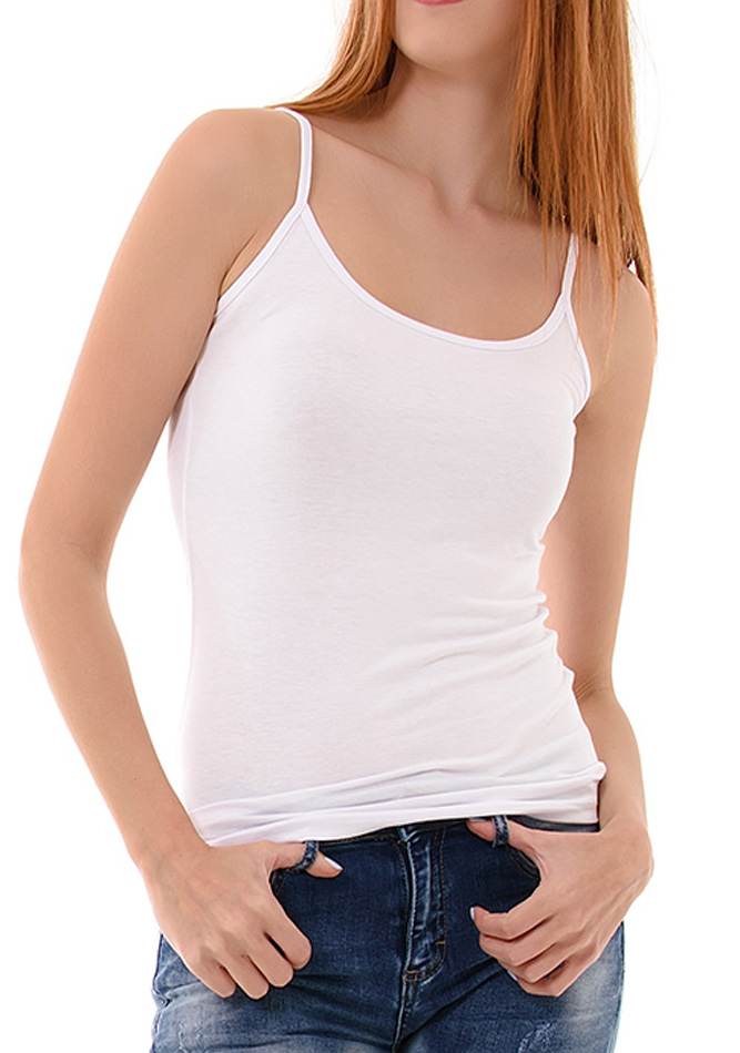 Top Bretelles White αρχική γυναικεία ρούχα μπλούζες   tops