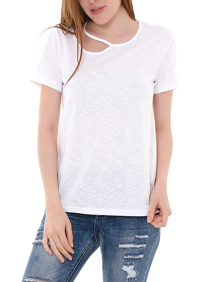 Μπλούζα White Neck αρχική γυναικεία ρούχα μπλούζες   tops