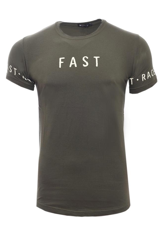 Ανδρικό T-shirt Fast Olive Green αρχική ανδρικά ρούχα