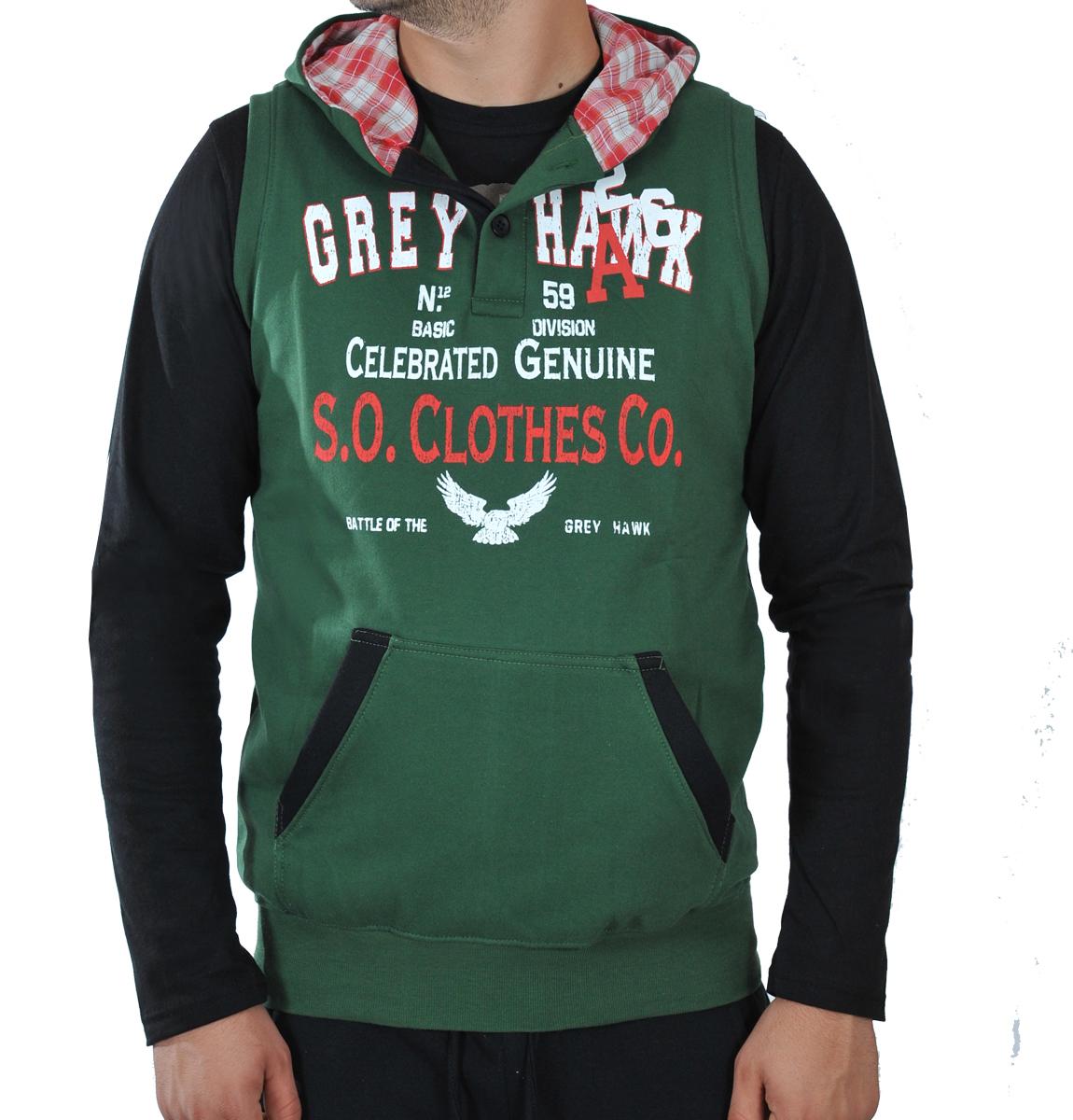 Aμάνικο Φούτερ Grey Hawk-Κυπαρισσί αρχική ανδρικά ρούχα φούτερ