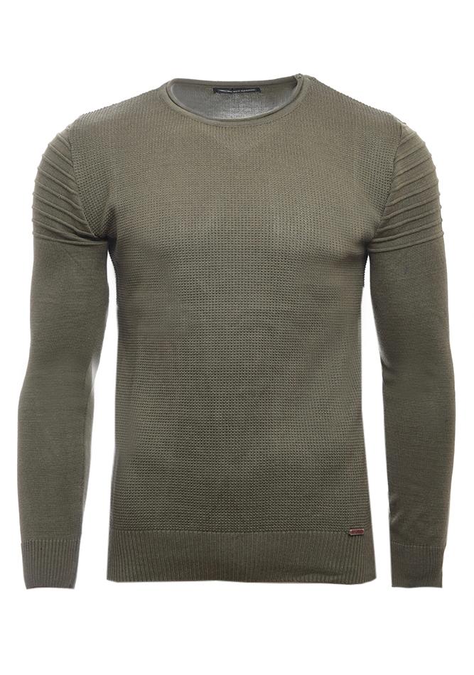 Ανδρική Πλεκτή Μπλούζα Roy Olive Green αρχική ανδρικά ρούχα