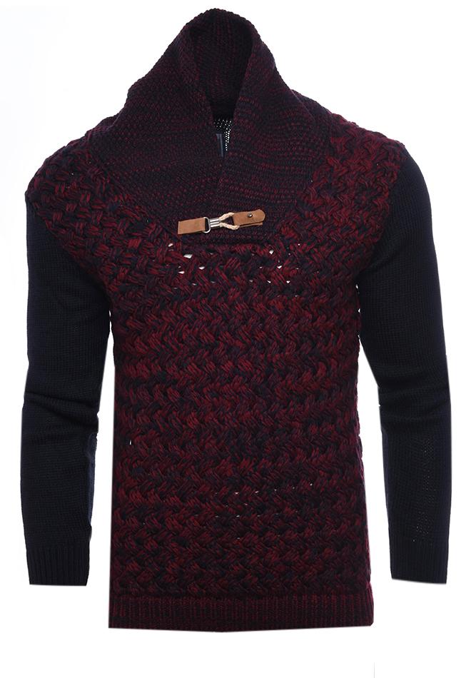 Ανδρική Πλεκτή Μπλούζα Minimal Bordeaux αρχική ανδρικά ρούχα επιλογή ανά προϊόν πλεκτά