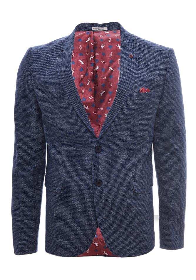Ανδρικό Σακακι Gentleman D.Blue αρχική ανδρικά ρούχα επιλογή ανά προϊόν σακάκια   γιλέκα