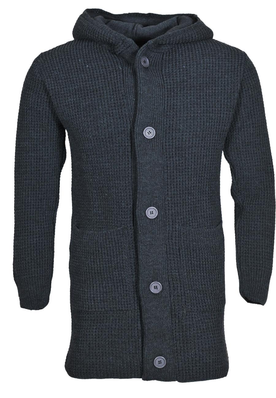 Πλεκτή Ζακέτα μακριά So Fashion-Γκρι Σκούρο αρχική ανδρικά ρούχα ζακέτες
