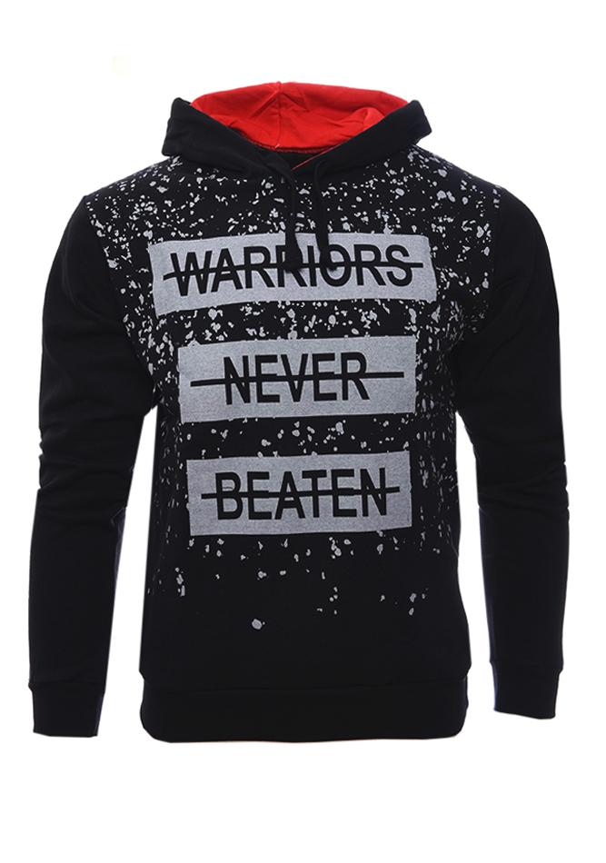 Ανδρικό Φούτερ Warriors Black αρχική ανδρικά ρούχα επιλογή ανά προϊόν φούτερ