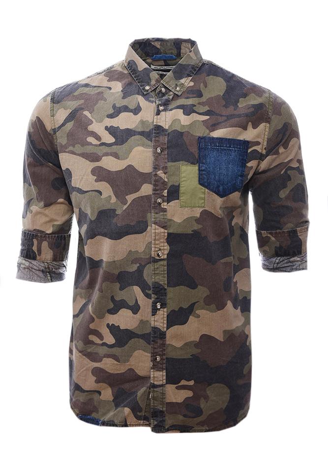 Ανδρικό Πουκάμισο Army Jean αρχική ανδρικά ρούχα επιλογή ανά προϊόν πουκάμισα