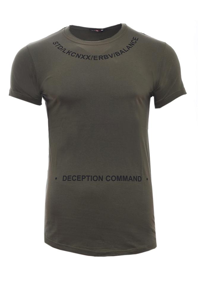 Ανδρικό T-shirt Deception Olive Green αρχική ανδρικά ρούχα