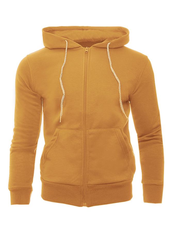 Ανδρική Ζακέτα Way Mustard αρχική ανδρικά ρούχα επιλογή ανά προϊόν φούτερ