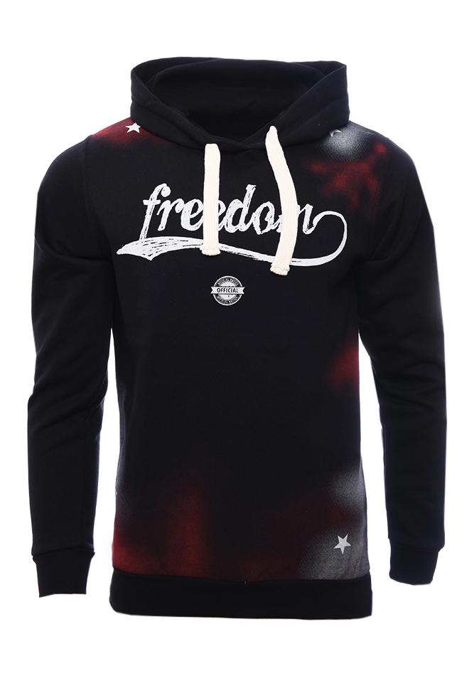 Ανδρικό Φούτερ Freedom Black αρχική ανδρικά ρούχα επιλογή ανά προϊόν φούτερ