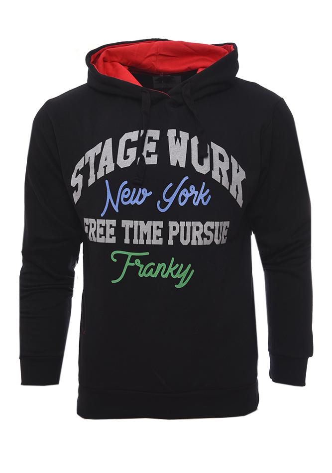 Ανδρικό Φούτερ Stage Black αρχική ανδρικά ρούχα επιλογή ανά προϊόν φούτερ