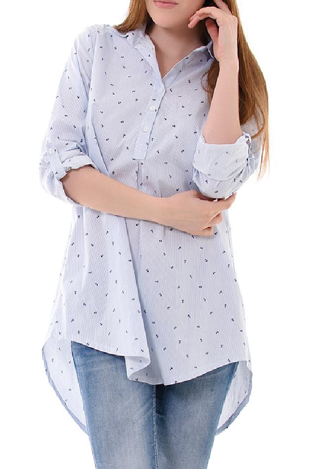Πουκαμίσα Blue Anker αρχική γυναικεία ρούχα πουκάμισα