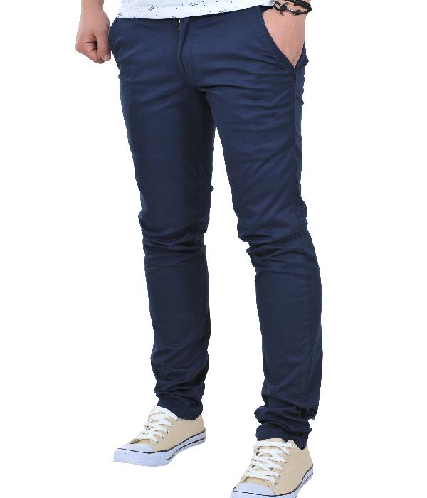 Ανδρικό Chino Παντελόνι Dark Blue-Μπλε Σκούρο αρχική ανδρικά ρούχα παντελόνια chinos