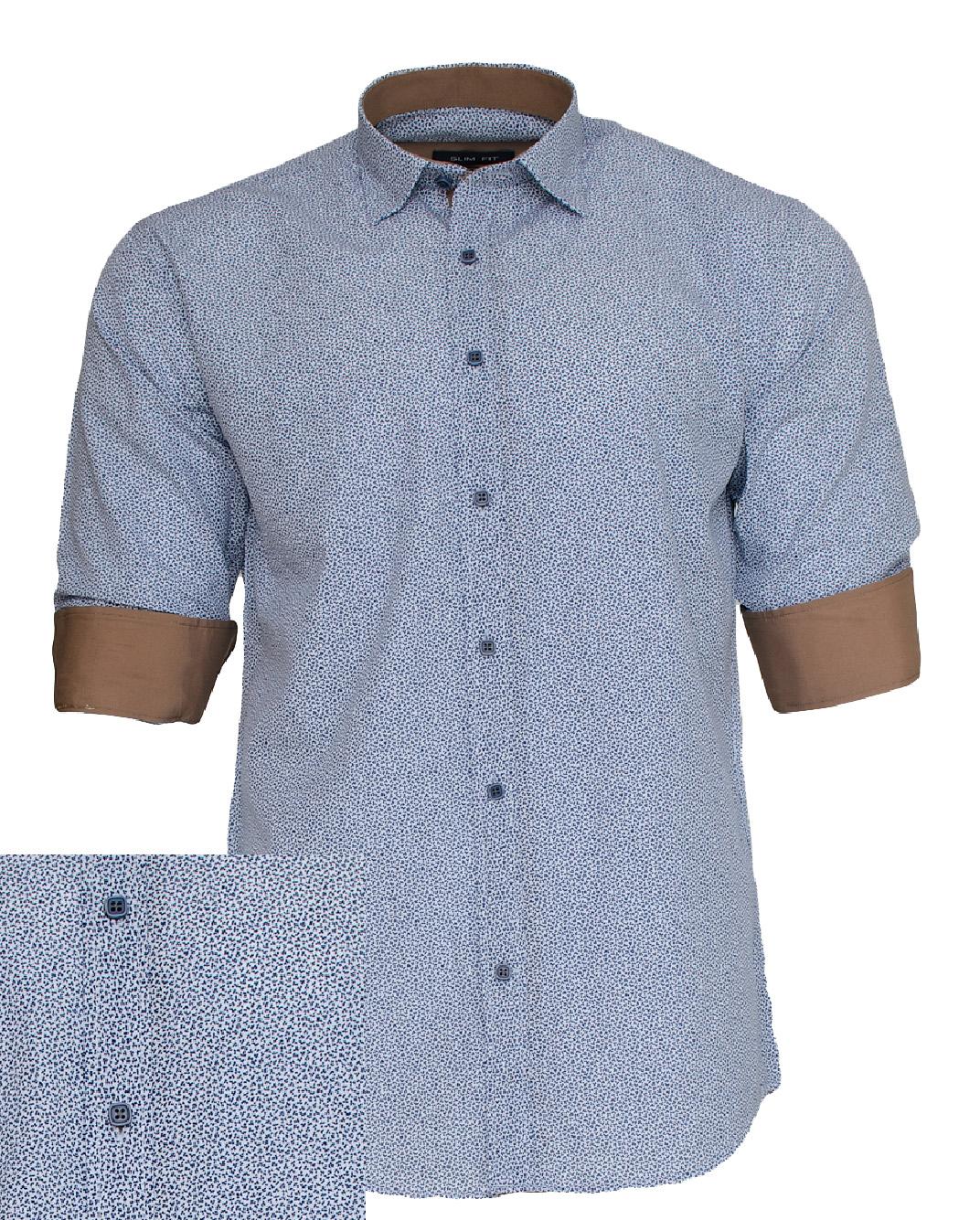 Ανδρικό Πουκάμισο So Fashion Ciel Brown-Σιέλ αρχική ανδρικά ρούχα πουκάμισα
