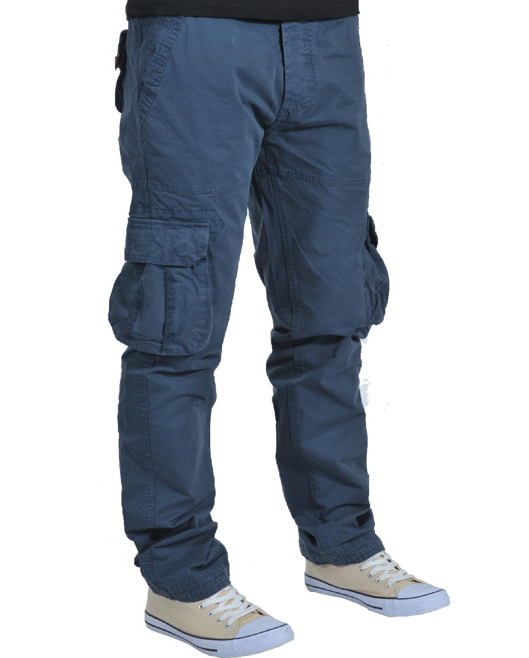 Ανδρικό Chino Παντελόνι New Wave D.Blue Cargo-Μπλε Σκούρο αρχική ανδρικά ρούχα παντελόνια chinos