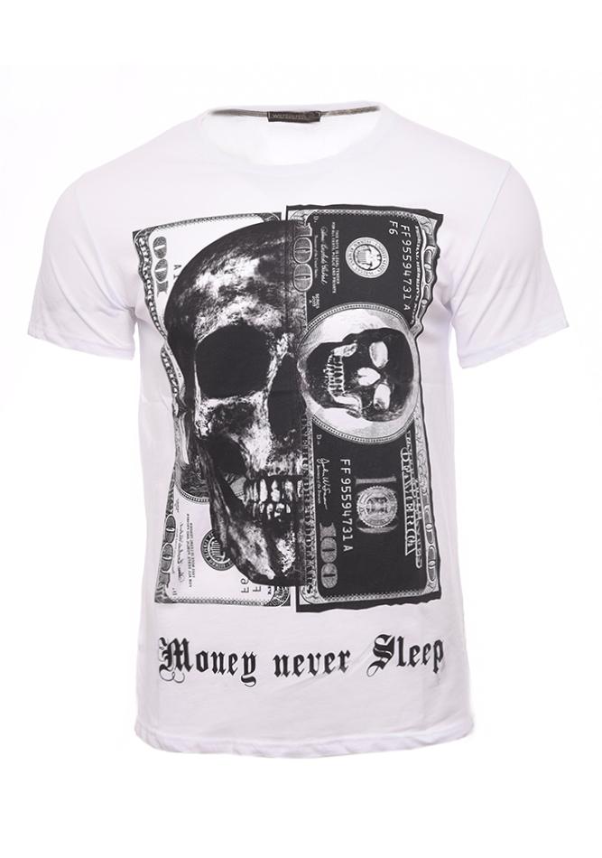 Ανδρικό T-shirt Money White αρχική ανδρικά ρούχα t shirts
