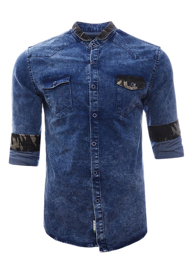 Ανδρικό Jean Πουκάμισο Army D.Blue αρχική ανδρικά ρούχα επιλογή ανά προϊόν πουκάμισα