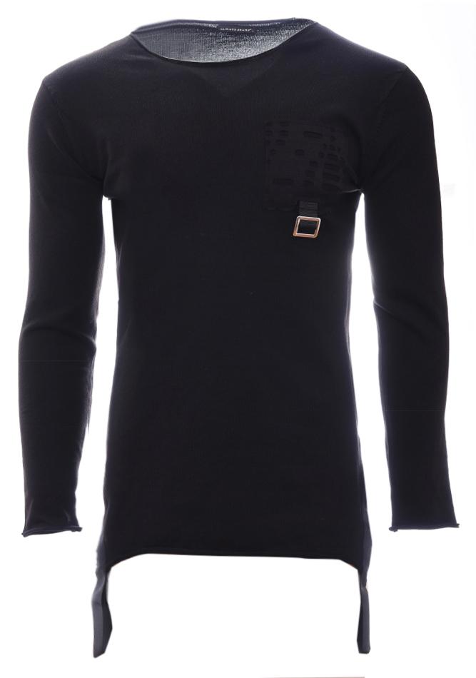 Ανδρική Μπλούζα Belt Pocket Black αρχική άντρας μπλούζες