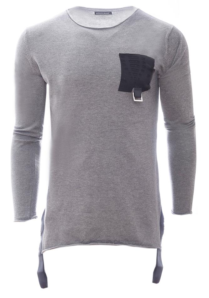 Ανδρική Μπλούζα Belt Pocket Grey αρχική ανδρικά ρούχα επιλογή ανά προϊόν μπλούζες