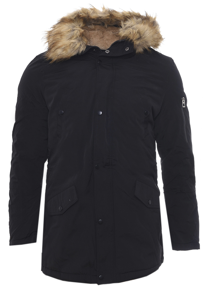Ανδρικό Μπουφάν Parka Taste Black αρχική ανδρικά ρούχα επιλογή ανά προϊόν μπουφάν