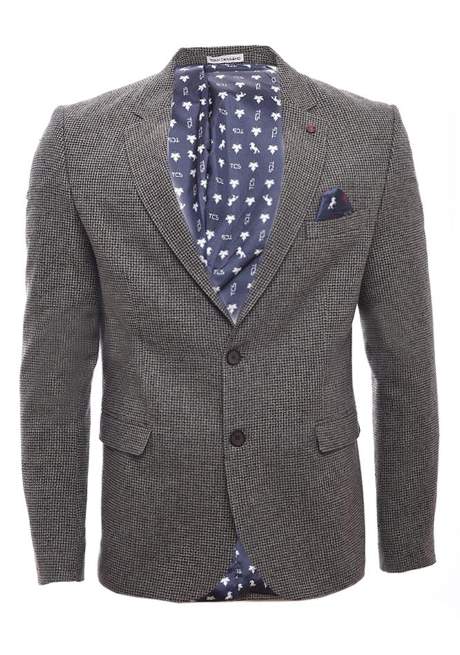 Ανδρικό Σακάκι Gentleman Dark Brown αρχική ανδρικά ρούχα