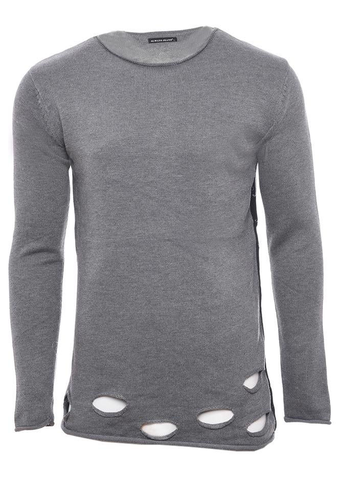 Ανδρική Μπλούζα Maybe Grey αρχική ανδρικά ρούχα επιλογή ανά προϊόν πλεκτά