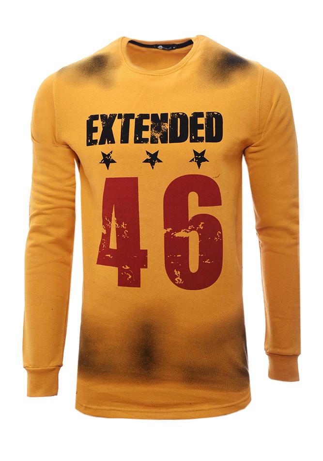 Ανδρικό Φούτερ Extended Mustard αρχική άντρας μπλούζες φούτερ