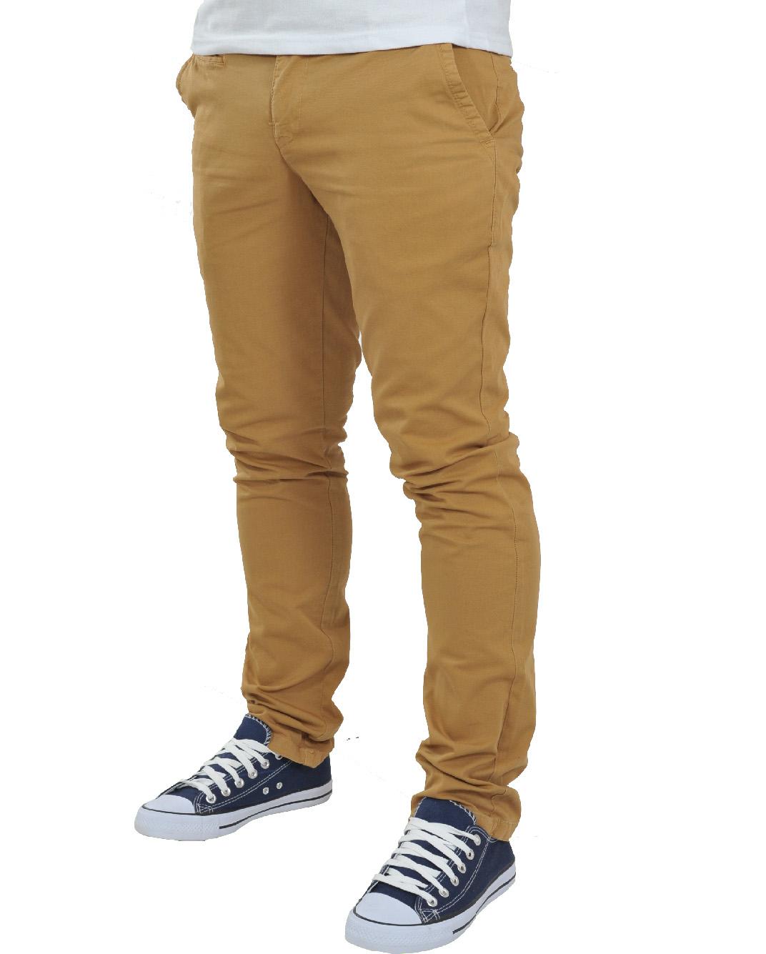 Ανδρικό Chino Παντελόνι Light Brown-Καφέ Ανοικτό αρχική ανδρικά ρούχα παντελόνια chinos