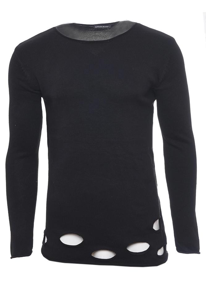 Ανδρική Μπλούζα Maybe Black αρχική ανδρικά ρούχα επιλογή ανά προϊόν πλεκτά