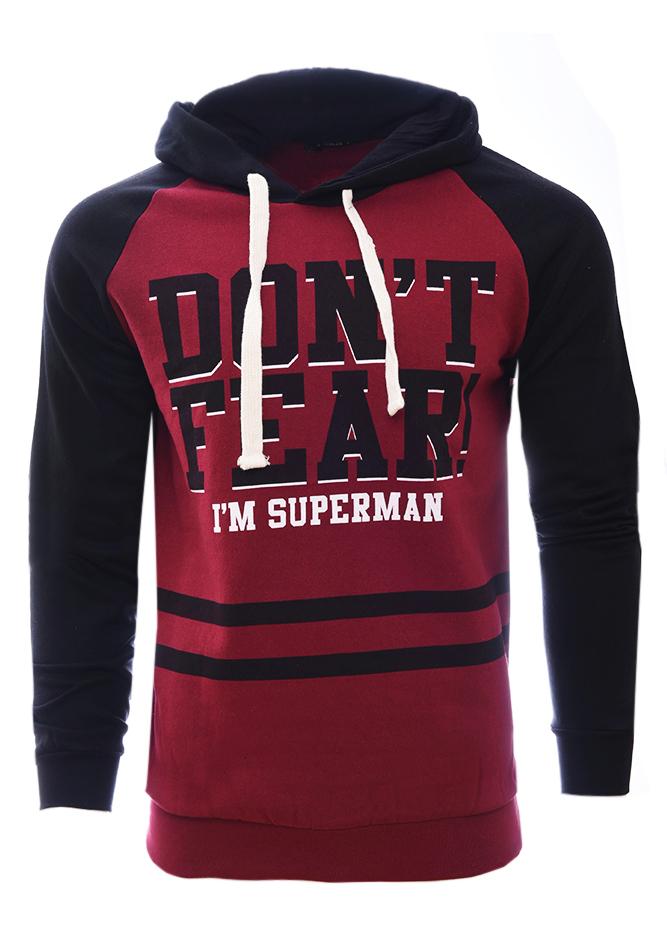 Ανδρικό Φούτερ Superman Bordeaux αρχική άντρας μπλούζες φούτερ