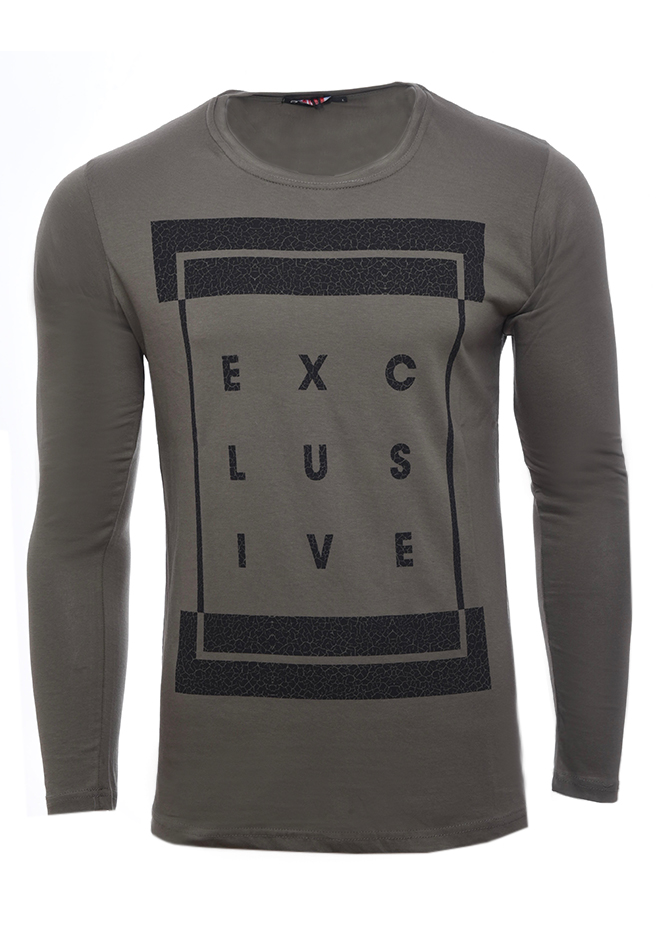 Ανδρική Μπλούζα Exclusive Olive Green αρχική ανδρικά ρούχα επιλογή ανά προϊόν μπλούζες