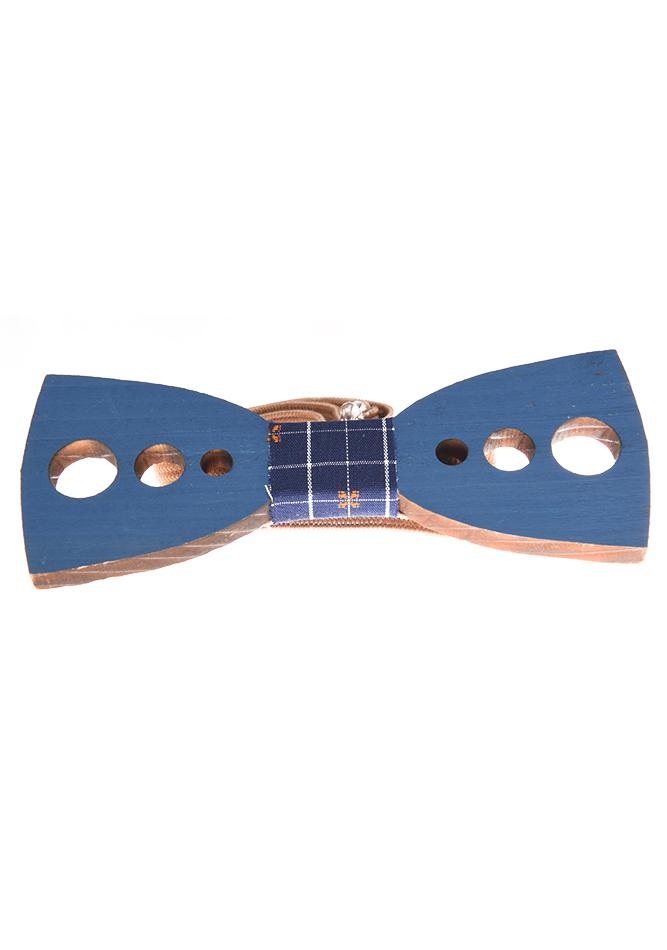 Ανδρικό Ξύλινο Παπιγιόν Circles Blue αρχική ανδρικά ρούχα αξεσουάρ παπιγιόν