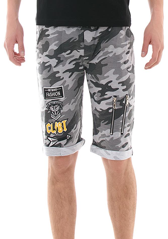 Ανδρική Βερμούδα Grey Army Fashion αρχική ανδρικά ρούχα επιλογή ανά προϊόν βερμούδες