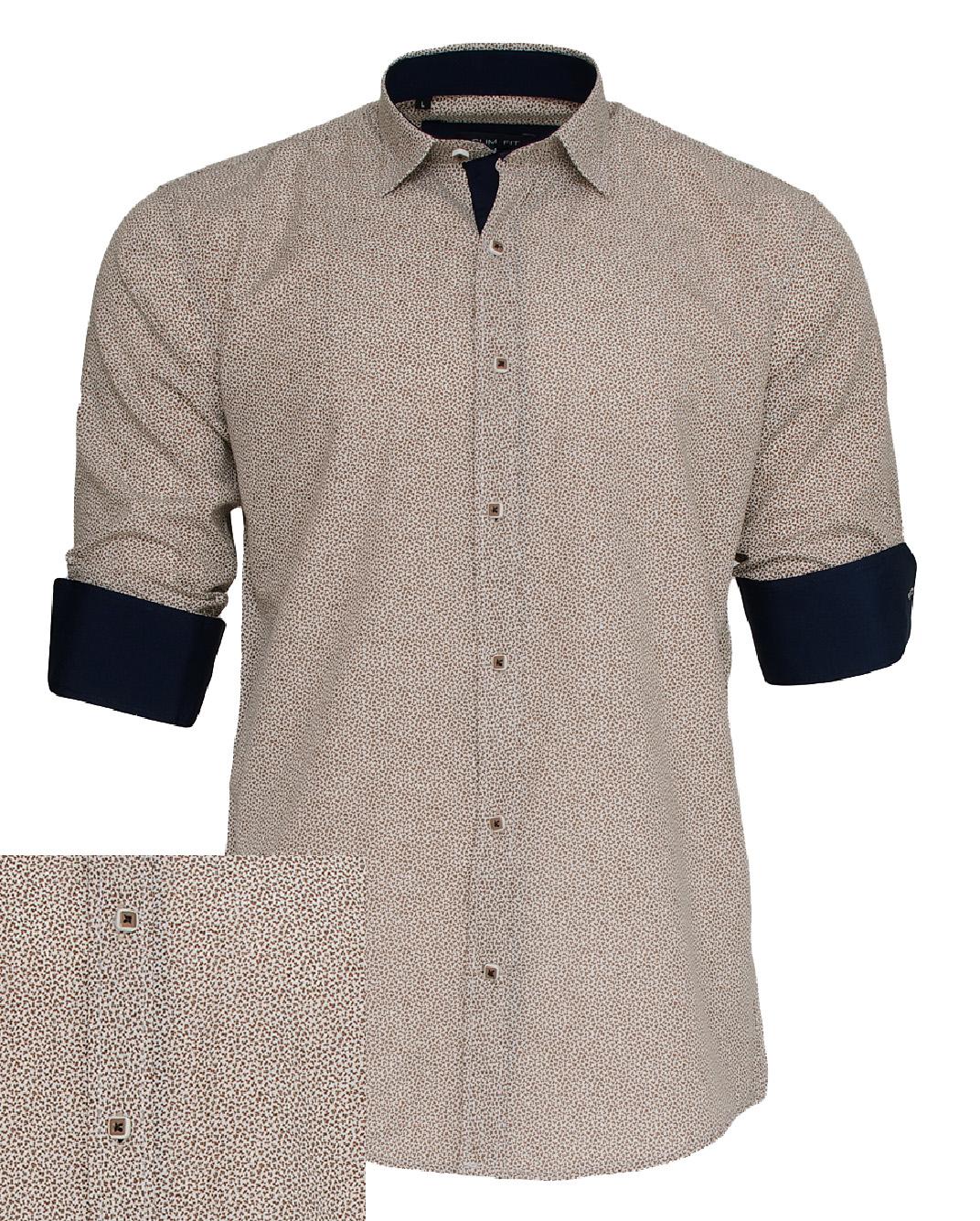 Ανδρικό Πουκάμισο So Fashion Brown Blue-Καφέ Ανοικτό αρχική ανδρικά ρούχα πουκάμισα