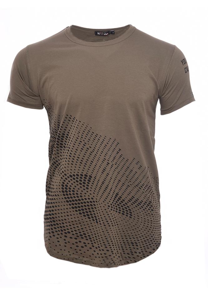 Ανδρικό T-shirt Circle Khaki αρχική ανδρικά ρούχα επιλογή ανά προϊόν t shirts