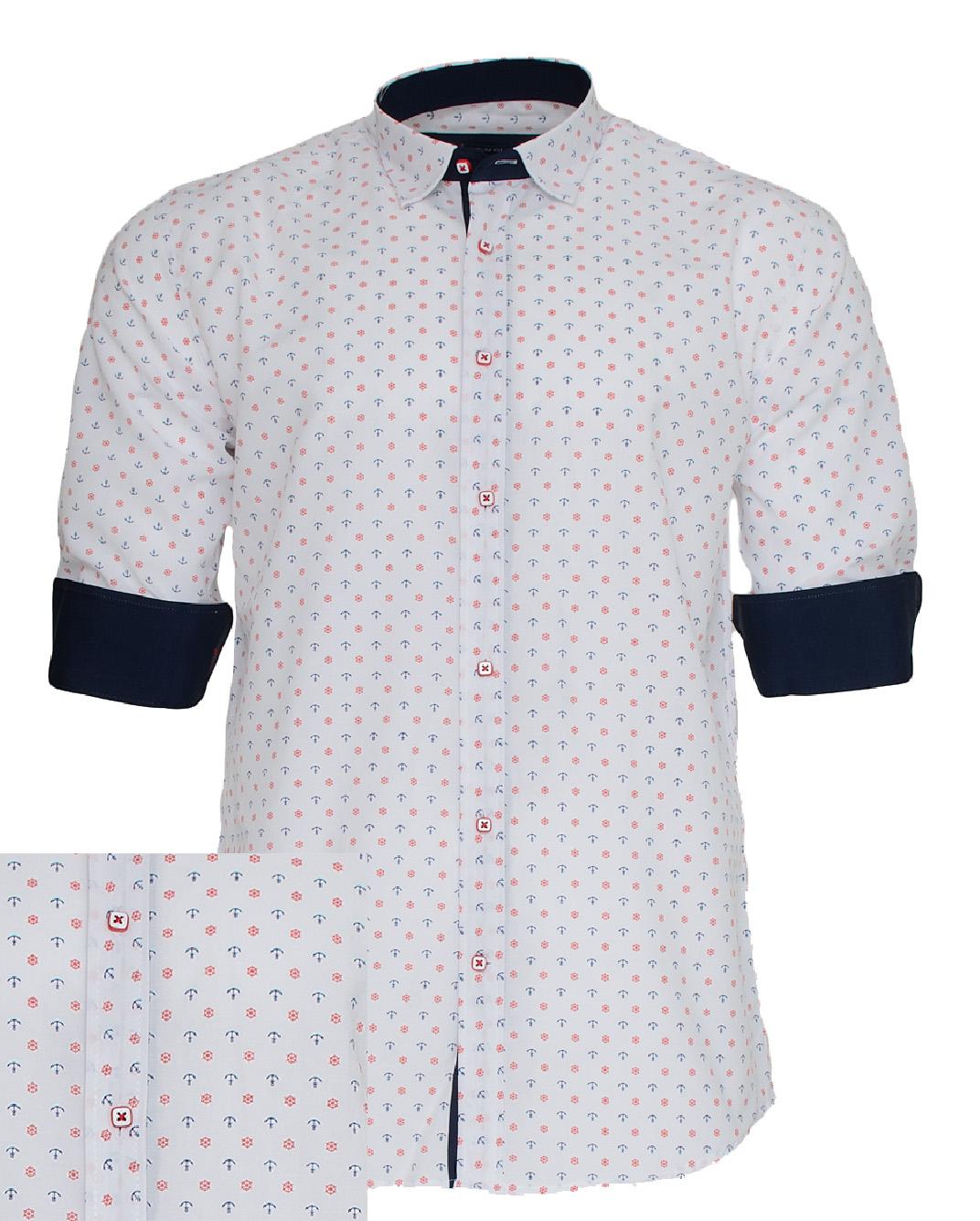 Ανδρικό Πουκάμισο So Fashion Anchor Poua-Άσπρο αρχική ανδρικά ρούχα πουκάμισα