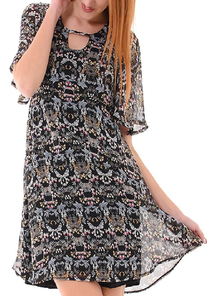 Φόρεμα Basic Floral αρχική γυναικεία ρούχα φορέματα