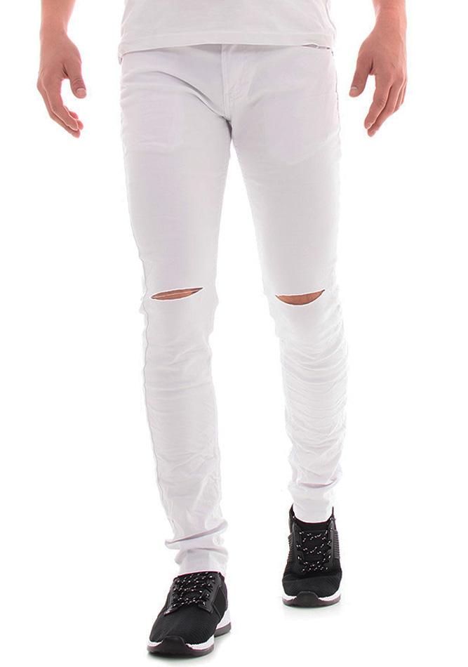Ανδρικό Jean Addrexx White αρχική ανδρικά ρούχα παντελόνια παντελόνια jeans