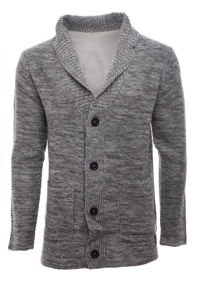 Ανδρική Πλεκτή Ζακέτα Seperate Grey αρχική ανδρικά ρούχα επιλογή ανά προϊόν ζακέτες