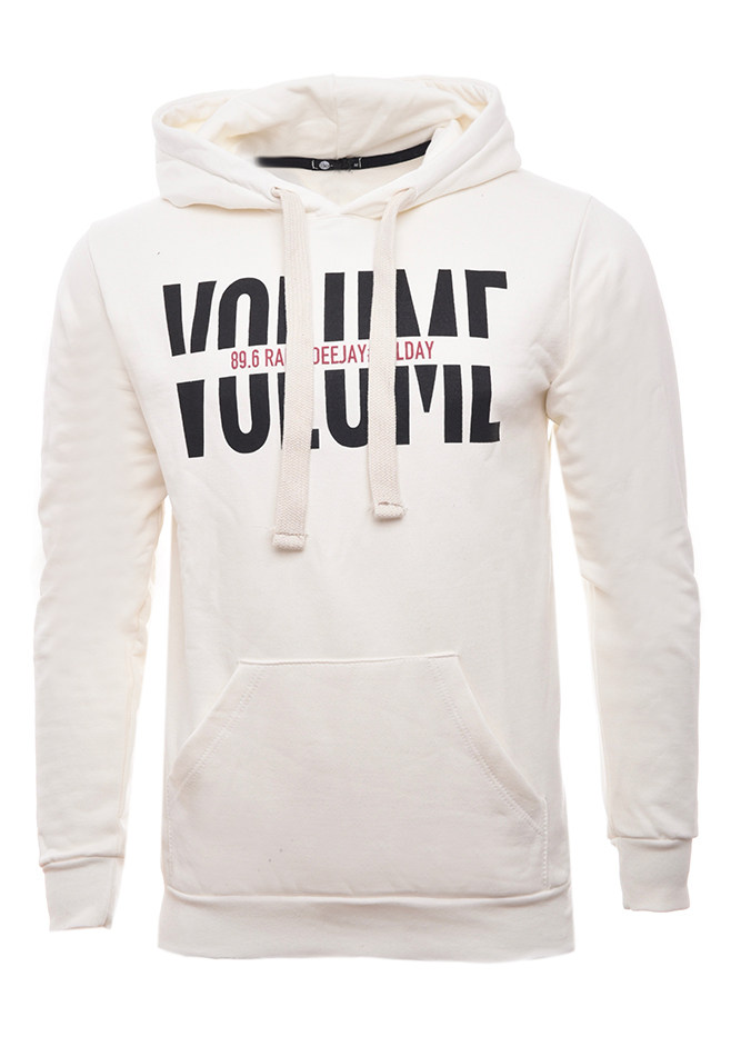Ανδρικό Φούτερ Volume White αρχική ανδρικά ρούχα επιλογή ανά προϊόν φούτερ