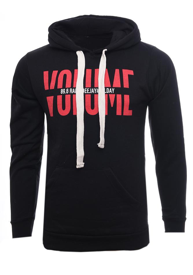 Ανδρικό Φούτερ Volume Black αρχική ανδρικά ρούχα επιλογή ανά προϊόν φούτερ