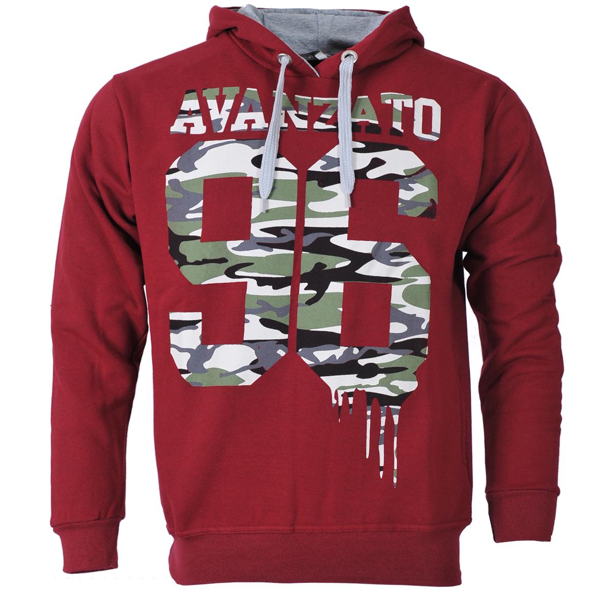Ανδρικό Φούτερ Avanzato96-Μπορντό αρχική ανδρικά ρούχα φούτερ